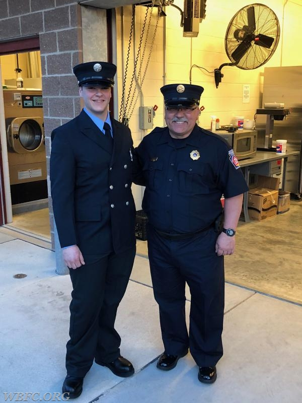 FF Ethan Lange and Chief Instructor John DeMarco