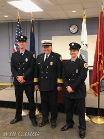 FF Zach Turner, Chief Jack Law, FF John Ost-Prisco