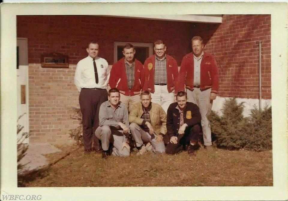 Back Row L-R: Richard Busby, Kenny Trimble, Ronnie Trimble, Archie Trimble Front Row L-R: Bob Crawford, Jack Hines, Unknown