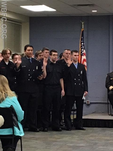 Class #18112002 reciting the Fire Fighter Oath