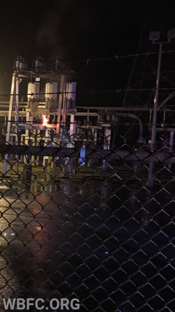 PECO Substation fire