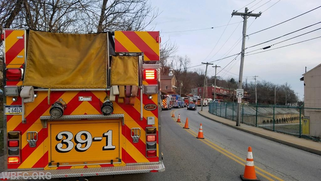 Engine 39-1 at the Coatesville City incident