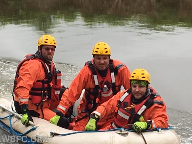 Some of the Northbrook Canoe Challenge water rescue crew