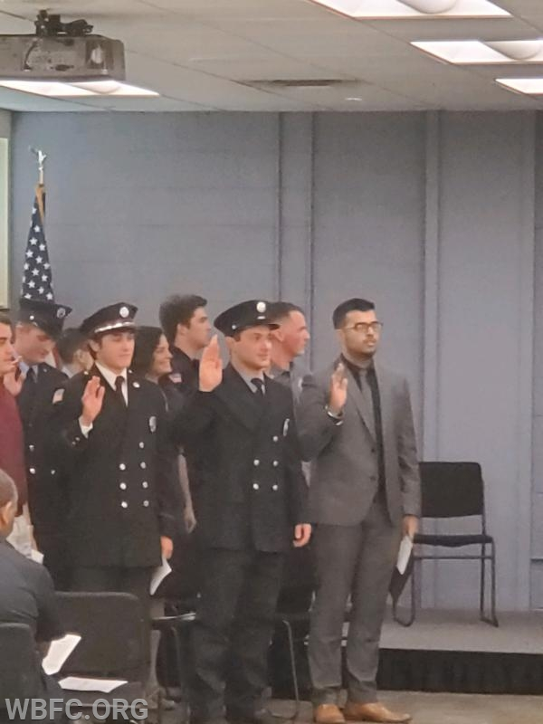Fire Fighter Anthony Trento taking his Oath