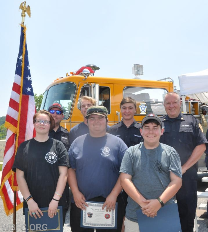 The Junior Crew with Chief Law and Fire Fighter Hayes